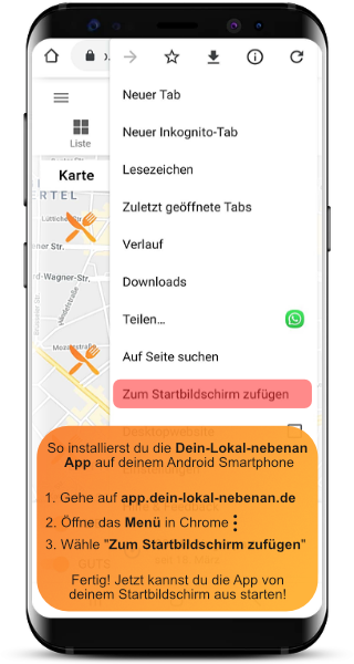 Installiere die Dein-Lokal-nebenan App auf Android