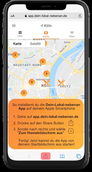 Installiere die Dein-Lokal-nebenan App auf iOS